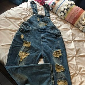Other - Ripped & Stained Overalls